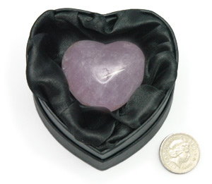 Heart Shaped Amethyst Crystal. Heart Shaped Gift Box