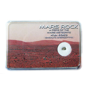 MARS Rock Box. Very Tiny Fragment of Real MARTIAN Meteorite -  Weighs approx 6-10milligrams.